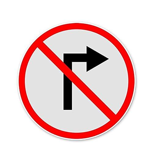 Etiqueta engomada del automóvil Advertencia Símbolos de Seguridad de tráfico prohibidos a la Ventana de Vinilo de protección Solar Modeling de automóviles PVC 11CM * 11 CM (Size : 11cm x 11cm)