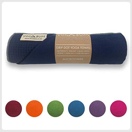 Yogabum Classic Collection Non-Slip Yoga Mat Towels (Navy Blue)