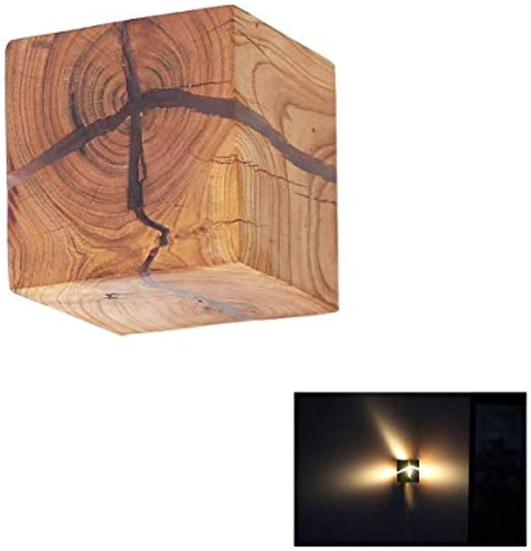 Nordic LED Wandleuchte Holz Wandleuchte Moderne Nachttischlampe Beleuchtung Hotel Bar Wanddekoration Lampe
