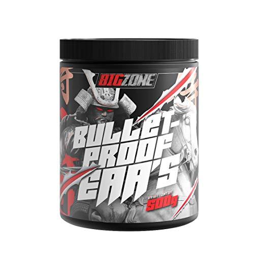Big-Zone Bulletproof EAA's EAA Essentielle Aminosäuren | Für Muskel und Gewebe - Bodybuilding - Extrem Lecker | 500g Pulver (Pfirsichringe)