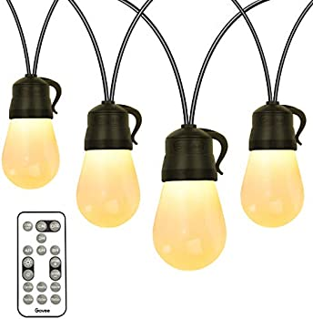 Govee 48-Foot Outdoor String Lights with 15 Dimmable LED Bulbs
