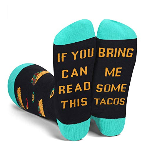 Funny Saying If You Can Read This Bring Me Tacos Socks-Funny Novelty Tacos Socks Gifts For Women Tacos Lover