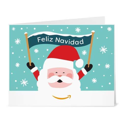 Cheques Regalo de Amazon.es - Para imprimir - Papá Noel y banner