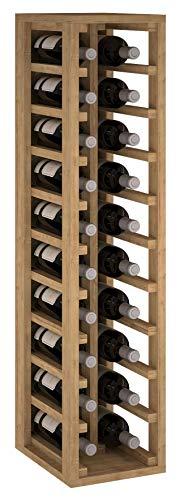 ZonaWine - Botellero 2 columnas en Madera de Pino o Roble para 20 Botellas. Medidas: 105/24/32 cm - Pino Tintado en Roble