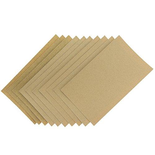 Coral Tools 74200Essentials Schleifmittel Schleifpapier Blatt mit feine mittel- und grobe Körnungen–Braun (10)