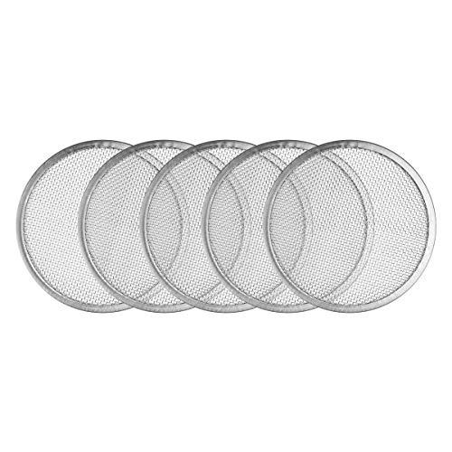 CHICTRY 5 Stücke Edelstahl Mesh Sieb Sprießen Deckel, Sprossengläser Deckel für 70/86mm Weithals-Einmachgläser Dosen, Samen Sprießen Silber One Size
