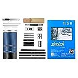 oshhni Pro Sketching Pencil Set Juego de Herramientas de Dibujo a Lápiz