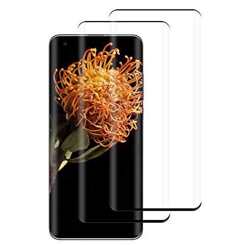PUUDUU Protector de Pantalla para Xiaomi Mi 10, Cristal Templado para Xiaomi Mi 10, Vidrio Templado, 3D Cobertura Completa, Sin Burbujas, Anti-Rasguños - [2 Piezas]