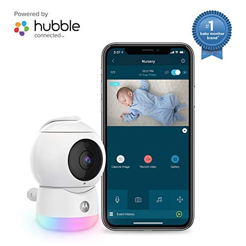 Motorola Peekaboo Video Baby, Elderly, Pet Monitor with Night Light - Portable Camera with Two-Way Audio - 1080p, Wide Angle View, Night Vision - Remote Pan Scan, Digital Zoom, Tilt Monitors