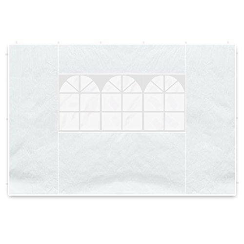 Nexos 2 Seitenteile Seitenwände Seitenplanen je 1 Fenster für PE-Pavillon Partyzelt 3 m weiß