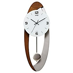 CLOCKZHJI Pendulum Wall Clock Silent Non Ticking Clocks and Clocks Living Room Clock Modern European Style Wall Clock Art Pendulum Clock Simple Fashion Personality Mute Clock (Color : #2)