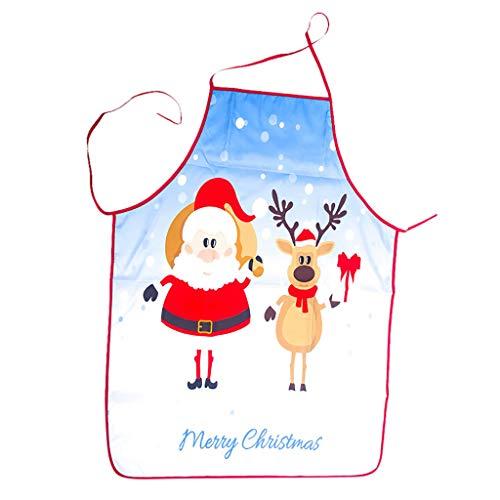Longra damesschort, kerstdecoratie, stof, sneeuwman, bedrukt, kerstdecoratie, bar, restaurant, jongens