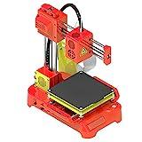 BOROCO Mini Impresora 3D de Escritorio, Impresora FDM 3D con Plataforma magnética Desmontable 100 * 100 * 100 mm - Enchufe del Reino Unido(Rojo)