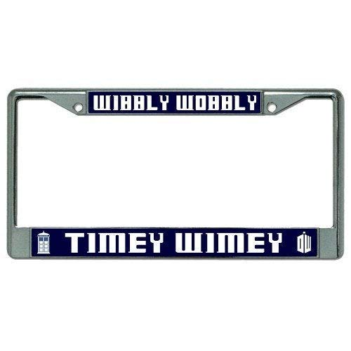 Homao Aluminum License Plate Frame Wibbly Wobbly Timey Wimey Dr. Who Photo License Plate Frame - LPO2514 Car Licenses Plate Covers Holders for US Vehicles 6 X 12 Inches