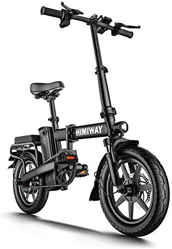 RDJM Bici electrica, Bicicleta eléctrica Plegable Bicicleta eléctrica for los Adultos, con Gran Capacidad extraíble de Iones de Litio Pantalla LCD (48V 250W 8Ah)