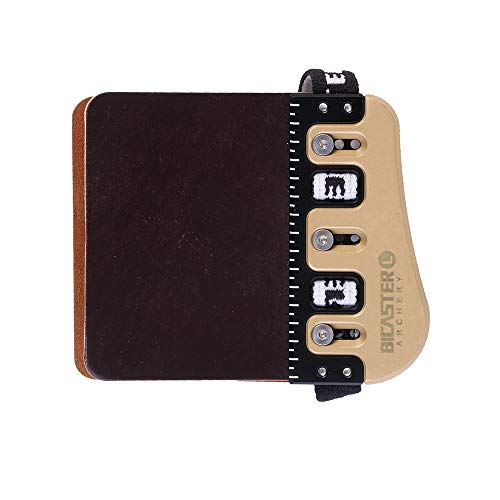 Bicaster Barebow Finger Tabs Horween Cordovan Leather + Brass Finger Guards String Walking Right Hand (Large)