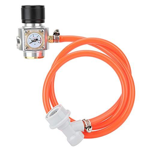 Kit de cargador de CO2 de rosca Tr21x4, barril regulador de gas de 39,4 pulgadas de acero inoxidable con accesorios de manguera para la elaboración de cerveza de refresco