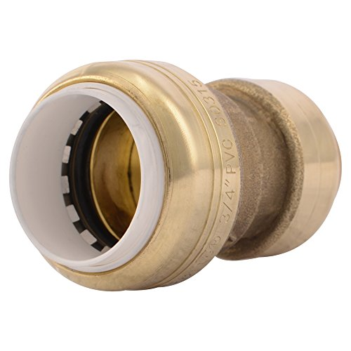 """Sharkbite UIP4016 3/4"""" Brass Push-To-Connect PVC IPS x CTS Conversion Coupling"""