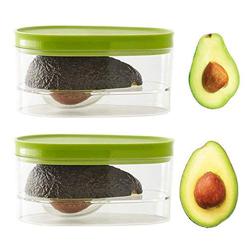 2-Pack Avocado Storage, Avocado Keeper, Avocado Saver Holder, Avocado Container to Keep Your Avocados Fresh for Days