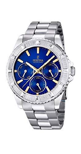 Festina Reloj Mujer Acero Esfera Azul con Indices Aplicados - Ref F16690/6
