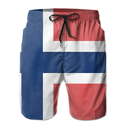 Ripped Puerto Rico Flag for Men Board Shorts Beach Swim Trunks Casual Shorts