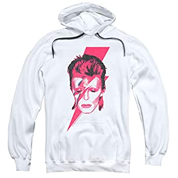 David Bowie Aladdin Sane Album Art Pullover Hoodie Sweatshirt & Stickers  XXX-Large  White