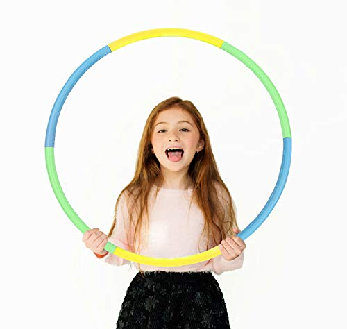 Beakabao Exercise Hoops Set for Kids(6 Parts), Weight and Size Adjustable Detachable Fitness Toys, Suitable for Gymnastics, Dance, Games and Pet Training, 27 Inches
