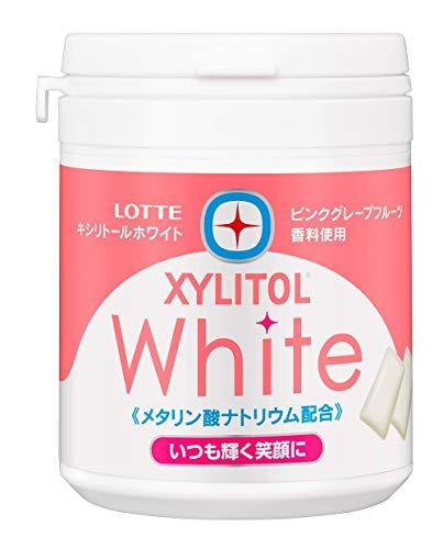 ロッテ キシリトールホワイト(ピンクグレープフルーツ)ファミリーボトル 143g