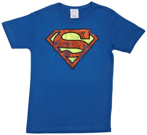 Logoshirt - Camiseta de Superman Infantil, Talla 2-3 Years - Talla Inglesa, Color Azul (Azure Blue)