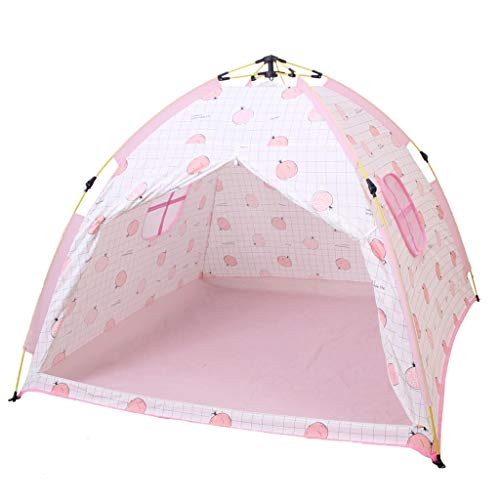 HUIYAN Camping Tents, Children's Tent | Camping Tent Automatic Quick Opening Outdoor | Indoor Game Girls House Castle, Pink