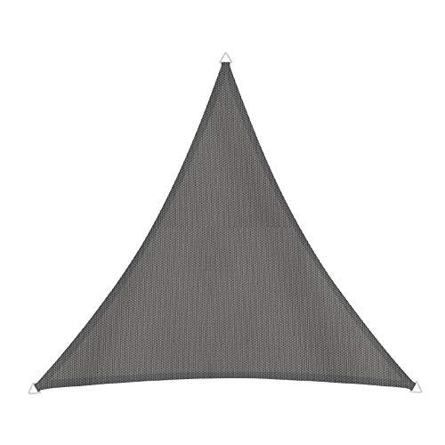 Windhager 10715 Cannes Voile d'ombrage Triangulaire 4 x 4 m (cuise) Protection Solaire pour Jardin et terrasse, résistant aux UV et aux intempéries Anthracite
