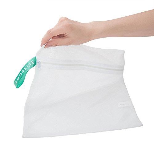 Amorelie Care Wäschebeutel Weiß für die Waschmaschine Feinwäsche