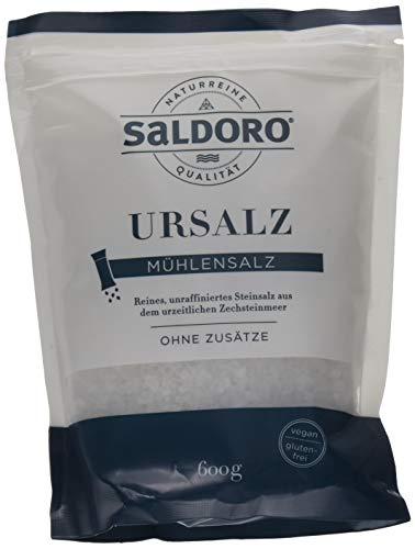 SALDORO Ursalz Mühlensalz, 8er Pack (8 x 600 g)