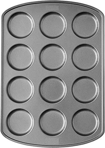 Muffin Top Pan measurement: 3 in. dia. x .5 inches. 12 Cavities Baking provides Baking sheet Baking pan Baking set Cake pan Bakeware units Baking pans Baking pans set Cookie sheets for baking Baking sheets