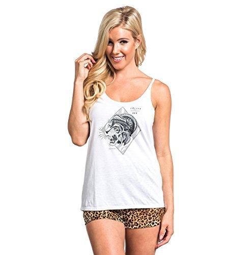 Sullen Angels Juniors Tiger Slub Tank Top White XL