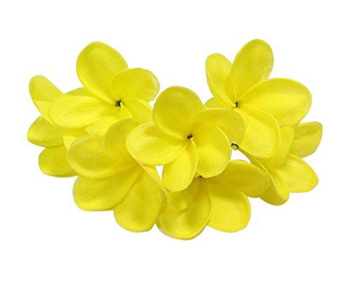 Ramo de flores de látex Hawaiian Lei artificial de 10 tallos de Winterworm para novia, boda, fiesta, festival, decoración