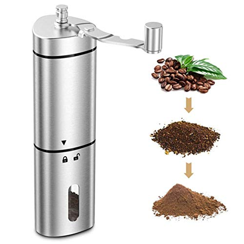 Manual Coffee Bean Grinder Triangular Hand Crank Mill Stainless Steel Handle Adjustable Conical Burr Handmade Coffee Bean Press For Espresso Coffee Lover Best Gift