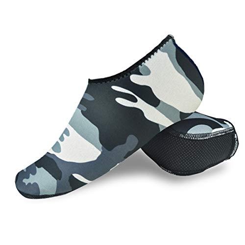 LayaTone Calzini da Spiaggia Unisex Adulti Protegge da Sabbia Calzini da Nuoto dAcqua -Antiscivolo Calze in Neoprene 2.5mm Uomo Donna Adulto Calze da Volley Surf Scarpe da Acqua Pantofole da Casa