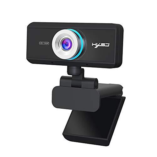 Webcam, Entweg S90 HD Webcam with Mic USB3.0 2.0 720P Adjustable 360°High-end Video Call Camera