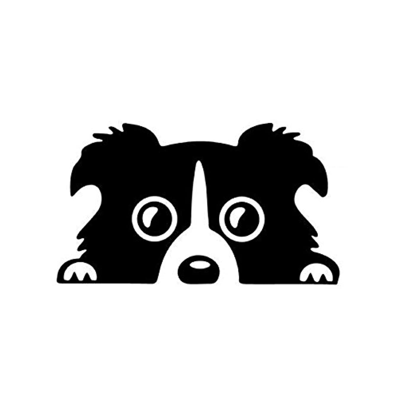 Exterior Accessories - Border Collie Sticker Auto Decal Accessories Black - 14x8cm Car Lovely Pet Dog Sticker Funny Decal Auto Bumper Window Body Decal - Car Stickers And Decals Pets - 1PCs