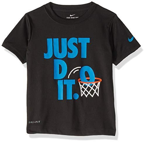 NIKE Children's Apparel Boys' Toddler JDI Graphic T-Shirt, Black/Blue, 3T