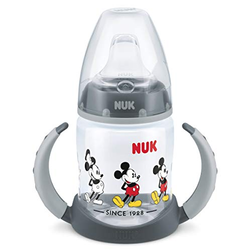 NUK 10215269 Disney Mickey Mouse First Choice Trinklernflasche, BPA frei, ab 6 Monate, 150 ml, grau