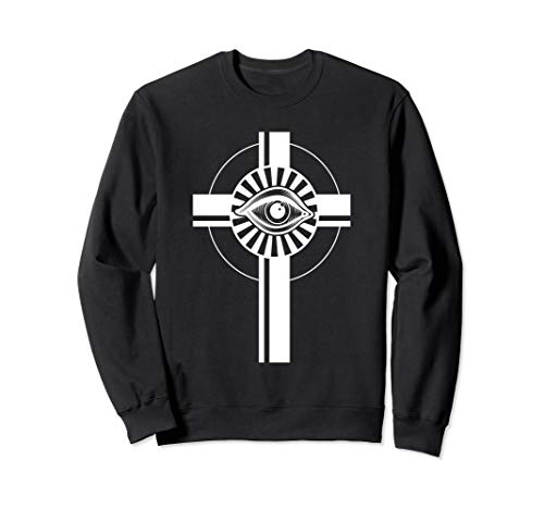 Rosicrucianism All Seeing Eye Cross Symbol - Rosicrucian Sweatshirt