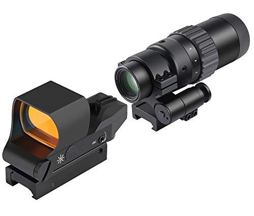 Feyachi RS30 Reflex Sight with M36 15X  5X Red Dot Sight Optics Magnifier
