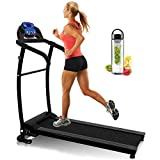 Nero Sports Folding <span class='highlight'><span class='highlight'>Treadmill</span></span> Motorised Running Machine Electric Power Fitness Exercise New 10km SPACE SAVER WATER BOTTLE LED Computer