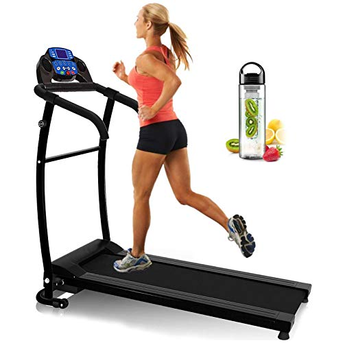 Nero Sports Folding Treadmill Motorised Running Machine Electric Power Fitness Exercise New 10km SPACE SAVER WATER BOTTLE LED Computer