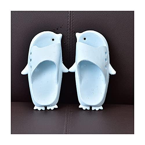 liangzishop Chanclas Linda Ducha Animal Sandalia baño Animal pingüino EVA Gimnasio Zapatillas Casuales Sandalia Antideslizante para Hombres y Mujeres Flops (Color : Light Blue, Size : 36-37)