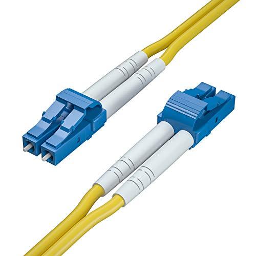 OS2 LC zu LC LWL Patchkabel 50m, 9/125 Singlemode Duplex Glasfaserkabel Fiber Patch Cable LSZH für SFP, 10G SFP+, Medienkonverter, Länge: 1m bis 50m, MEHRWEG