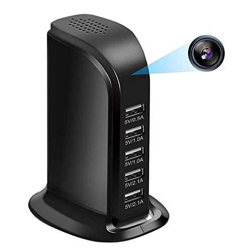 WIFI HD 1080P IP Mini Macchina Fotografica DVR 4K P2P Videocamera Di Sorveglianza Wireless Camera USB Wall Charger Videocamera Nascosta Registratore,Black 64g