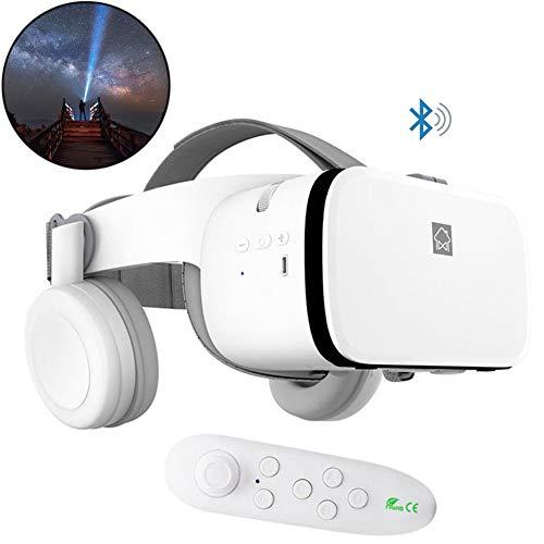 WXXW VR Gafas 3D De Realidad Virtual Juegos De Vídeo Compatible con iOS Android Compatible 4.7-6.2 Inch Pulgadas Smartphone con Controlador Bluetooth Halloween